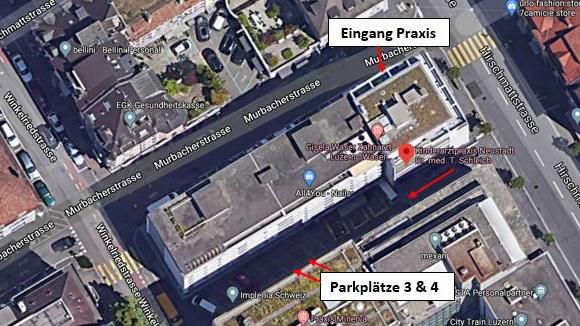 Parkplätze Kinderarztpraxis Neustadt Luzern